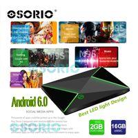 Android Cajas 2GB / 16GB 2GB / 8GB M9S Z8 Amlogic S905X Núcleo Cuádruple IPTV Banda Dual Wifi XBMC Bluetooth 4.0 Android OTT TV Box