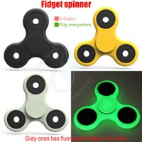 Wholesale New HOT EDC Hand Spinner Fidget Toys decompression anxiety Killing Time Acrylic Plastic axis balance Toy with fluorescence HandSpinner DHL