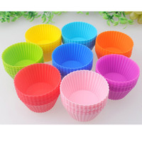 Wholesale Silicone Soft Round Cake Muffin Chocolate Cupcake Liner Baking Cup Mold DIY Baking Fondant Bakeware Pastry Tools