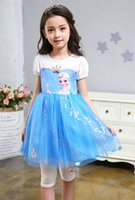 Cheap Summer Frozen Princess Dress Best Knee-Length 100% Cotton princess dress