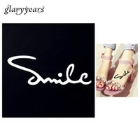 armed smile - PC Small Henna Tattoo Stencil Smile Drawing for Airbrush Painting Women Arm Leg Body Art Waterproof Tattoo Stencil Fashion G07