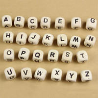Wholesale Letter Beads for Customize Name on Pacifier Clips Mixed Shape Wooden Alphabet Beads for Any Name on Pacifier Chain DIY