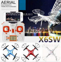 Wholesale X6SW four axis aircraft headless mode WIFI real time transmission of real time transmission of FPV image transmission remote control toy rem