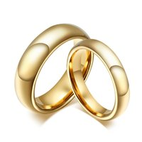 Wholesale Tungsten Carbide Wedding Rings For Couple Gold Color For Women Men Vintage Lover s Jewelry CTR