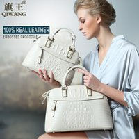 big bags on sale - Qiwang Classic Crocodile Women Bag Big Brand Luxury Elegant Top handle Bags Fashion Women Designer Handbags Female Bag on Sales