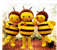 Mascot Costumes bee fancy dress costumes - Send free High quality Small Honey Bee Mascot Costume Cartoon Costume Animal fancy Dress Adult Size