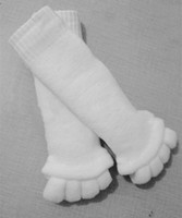 arts massage treatments - Sleeping Health Foot Care Massage Toe Socks Five Fingers Toes Compression Treatment of Bending Deformation for women sock