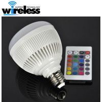 For Samsung Waterproof Wireless 2016 E27 Smart Bulb Light Dimmable 12W RGBW Wireless Bluetooth Speaker Bulb Music Playing LED Light Lamp with 24 Keys Remote Control