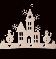 best small bathrooms - Pieces Small House Window Decals Christmas Tree Ornament Snowman Sticker Decoration Your Best Choice