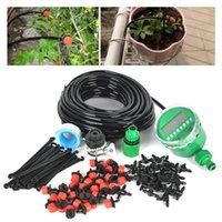 auto garden watering system - garden hose tap m DIY Micro Drip Irrigation System Auto Timer Self Plant Watering Garden Hose With x Adjustable Dripper