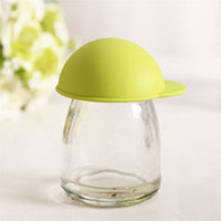 Cheap Wholesale-Cute Silicone Anti-dust Glass Cup Cover Coffee Mug Suction Seal Lid Cap quality first