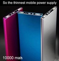 Wholesale Ultra thin metal polymer mobile phone charger power supply milliampere large capacity mobile charging treasure can customize logo