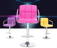 bar stools design - office room chair household living room stool purple red orange black color bar coffee house stool furniture design