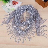 Wholesale Han edition creative bud silk scarves hollow out autumn fashion shawl collar color tassel autumn winter scarf