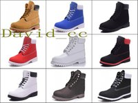 Acheter Les femmes travaillent bottes-Bottes de neige d'hiver rouge Hommes Femmes Bottes de travail en cuir étanches en cuir véritable Chaussures de randonnée en cuir de vache