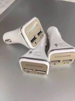 Wholesale New square mA white car charger car phone charger dual USB car charger dual head fast charge