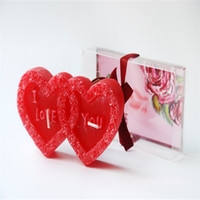 Wholesale Cupid Heart Shape Candles I Love You Red Dinner Candles Wedding Home Party Decoration PVC Packed