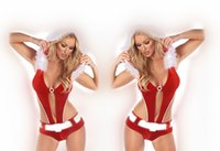 bar uniforms - Red Bare Back Bunny Sexy Siamese Christmas Balls Night Bars Uniform Christmas Gaming Suits Belt Hats
