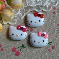 Wholesale 50pcs mix Kawaii hello kitty style DIY Flat back Resin Cabochons Jewelry Fit Mobile phone Hair clip accessory mm
