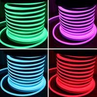 Wholesale AC110 AC220V SMD2835 LED Neon Flex Strip Light W W LED Neon Rope Light LEDS LEDS LED Neon Light