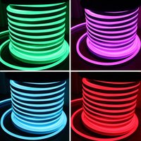 al por mayor luces de la cuerda de neón-AC110 AC220V SMD2835 Luz de tira de neón de la flexión del LED 5.5W luz de neón de la cuerda de 6W LED 90LEDS 120LEDS Luz de neón del LED