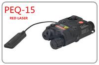 FMA Tactical AN / PEQ-15 version de mise à niveau blanche lampe de poche laser rouge avec torche illuminateur IR pour la chasse
