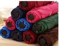 aluminum tube manufacturers - 2PCS Thirty percent pure color small umbrella Classic folding umbrella Plain flat umbrella Advertising gift manufacturer