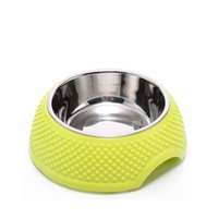 Wholesale Detachable Dog Cat Feeder Bowl Diner Feeding Station Tray with Stand Animal Pet Food Holder Stainless Steel dog bowl