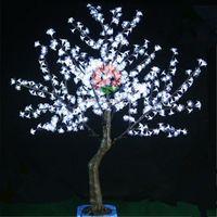 Wholesale LED Cherry Blossom Tree Light ft LED Bulbs m Height V V Seven Colors for Option Outdoor Rainproof yard garden decoration