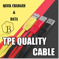 Wholesale Quality charging cable Cooper Mcro USB Data Fast SyncTransfer Flat Cable For Samsung S6 Edge S5 m ft TPE Usb Wire Colorful