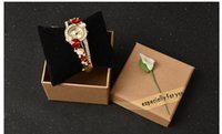 Wholesale New Arrival Watches Box Case Holders Luxury Lily Floral Boxes Wristwatches Box Gift For Women Girls