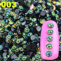 Wholesale New Arrival Mysterious mm D Glitter AB Round Shape Acrylic Rhinestone Nail Art Decoration Phone Gems Wheel Tips