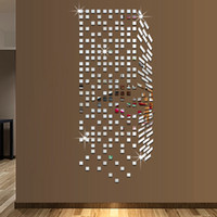 american home protection - DIY x100cm D stereoscopic environmental protection home new home decoration DIY square mirror mosaic wall stickers