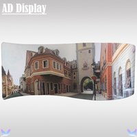 aluminum screen printing frame - 20ft ft S Shape Trade Show Aluminum Frame With Heat Transfer Stretch Banner Printing Durable Tension Fabric Advertising Display Equipment