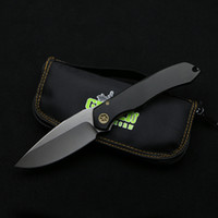 aluminum fabric - Green thorn MT Anax bearing tactical folding knife D2 blade aluminum handle camping hunting outdoor fruit knife pocket EDC tools