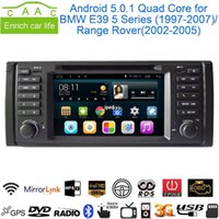 Wholesale Android Quad Core GPS Navigation quot Car DVD Player for BMW E39 Range Rover with Bluetooth RDS Radio Canbus