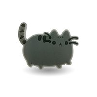 Wholesale 100pcs Pusheen Cat Funny Cartoon PVC brooch fit clothes shoes bags PVC badges Pin badge brooches collection Holder Bags Kids Gift