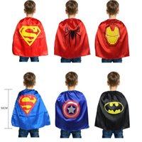 Spring / Autumn america activities - DHL Cosplay Kid Superman Cape CM Batman Captain America Spiderman Cloak Cartoon Clothing Halloween Boys Activities Accessories
