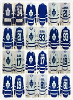 Wholesale Draft Matthews Lupul Gilmour van RIEMSDYK Clark White Blue winter classic White Blue Hockey Jerseys Stitched