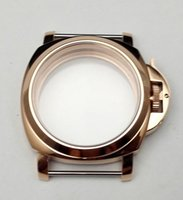 Wholesale High Quality mm watch case part stainless steel PVD Gold watch case fit ETA movements mens watch Watch Accessories