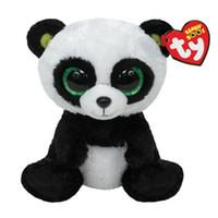achat en gros de grands animaux aux yeux-Grossiste-Ty Panda Peluche Jouet 16 cm TY Beanie Boos Big Eyed Peluches Bamboo Panda Kids Peluche Jouet Pour Les Enfants Cadeaux 15CM Ty Q024