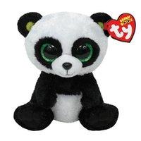 al por mayor animales grandes ojos-Venta al por mayor-Ty Panda juguetes de peluche 16 cm TY Beanie Boos Big Eyed animales de peluche Bamboo Panda Kids juguetes de peluche para niños regalos 15 CM Ty Q024