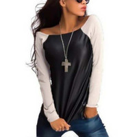 best slim fit shirts - Women Long Sleeve Crew Neck T Shirt PU Leather Slim Fit Tops S XL Best XM