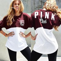Wholesale 2016 Winter Long Sleeve Hoodies Hotest Letter Printed Patchwork Casual Tops T shirt for Lady Girls Outwears DDA037