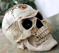 Wholesale Halloween Christmas ornaments skull Skull Halloween Decor pot ashtray horror skull resin flowerpot