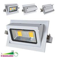 Wholesale New Embedded LED COB Adjustable Ceiling W W Cool White White LED Downlight LED Downlight AC V