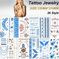 Wholesale Brand New Metalic Tattoos Gold Temporary Flash Tattoos Products Henna Metal Bling Tatouage Body Paint Stickers