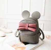 autumn backpack - Girls Backpack New Korean Cute Cartoon Mickey Design Backpack Fashion Bow Girls Bags with Ear
