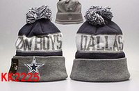 Wholesale free ship New footballl Cowboys Beanies Pom Knit Hats world Series Sports Cap Mix Order Top Quality Hat Winter Wool Hats Cubs