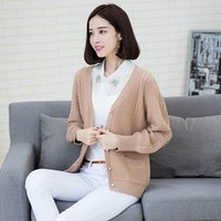 Wholesale Fashion New Women s short wool comfortable button Cardigan Leisure style three colors drop shipping